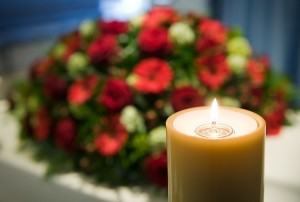 flowers -burning-candles