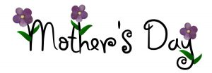 Simple Mother's Day wordage embellished with delicate little purple flowers.