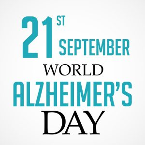 illustration for World Alzheimer's Day, September 21. Fight Alzheimer's Disease.